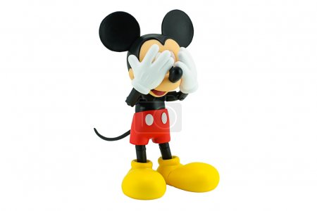 Photo for Bangkok, Thailand - January 5, 2015: Mickey Mouse action figure the official mascot of The Walt Disney Company. Mickey Mouse is a funny animal cartoon character was created by Walt Disney studio. - Royalty Free Image