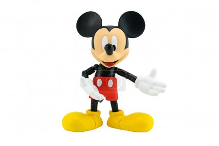 Photo pour Bangkok, Thaïlande - 5 janvier 2015 : Mickey Mouse figure d'action la mascotte officielle de The Walt Disney Company. Mickey Mouse est un personnage de dessin animé drôle animal a été créé par Walt Disney studio . - image libre de droit