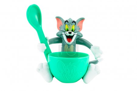 Tom grey cat toy character