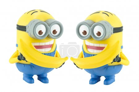 Two Minion with banana toy