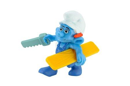 Smurfs Handy carpenter with saw