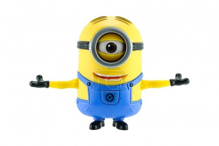 Minion stretch the arms isolated
