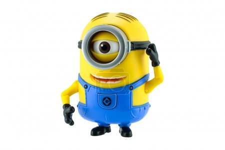 Minion toy isolated on white