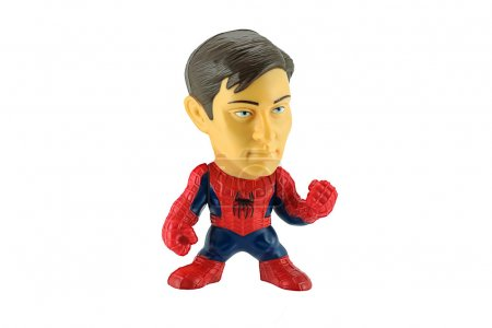 Spiderman removeable mask toy character