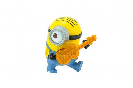 Minions playing a guitar toy