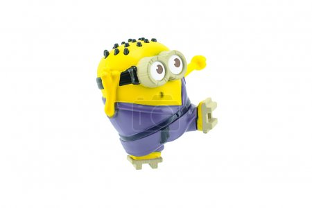 Martial arts minion spinning kick