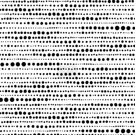 Illustration for Background image of random hand drawn dot pattern. - Royalty Free Image