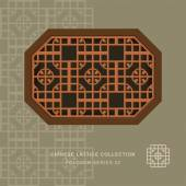 Chinese style window tracery polygon frame round corner pattern lattice