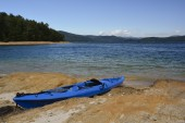 Kayak on the shore