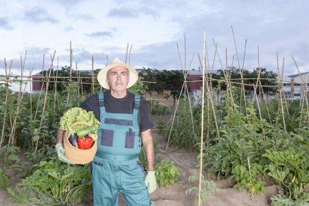 farmer with harvest