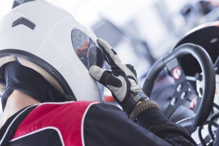 gokart racer ready for race