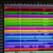 Monitor with audio tracks. software for recording...