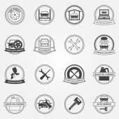 Vector set of car service symbols and badges