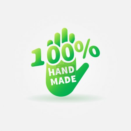 Hand made vector label or sign - 100 percent handm...