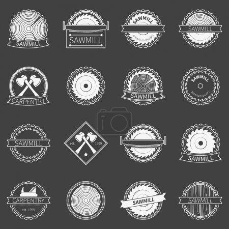 Sawmill badges or emblems