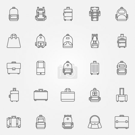Backpack and bags icons