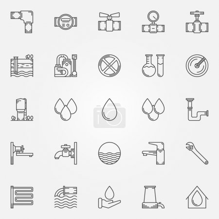 Water supply icons