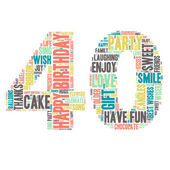Word Cloud - Happy Birthday Celebration - 40