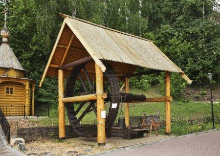 Photo pour Dessinez bien dans la ville des maîtres. Des gorodets. Oblast de Nijni Novgorod. Russie - image libre de droit