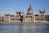 Maďarský parlament v Budapešti. Maďarsko