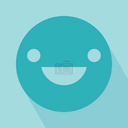 Illustration for Smile Icon. Smile Icon vector isolated on light blue background. EPS 10 vector illustration for design. All in a single layer. Vector illustration. - Royalty Free Image