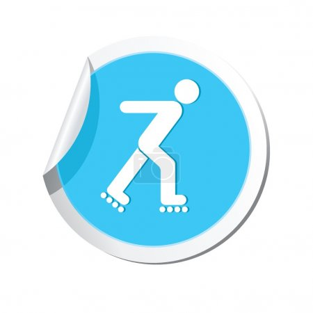 Roller skating icon.