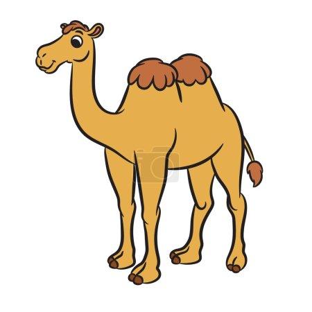 Illustration of cute camel