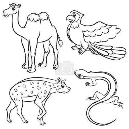 Illustration pour Mignonne collection d'animaux. Illustration vectorielle . - image libre de droit