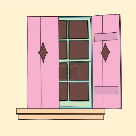 Vintage window. Architectural element