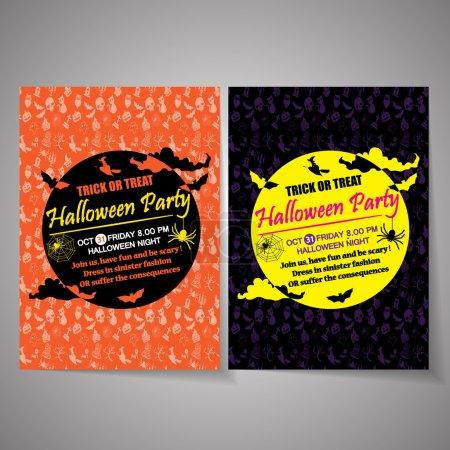 Photo pour Halloween fête affiche backgroun - image libre de droit
