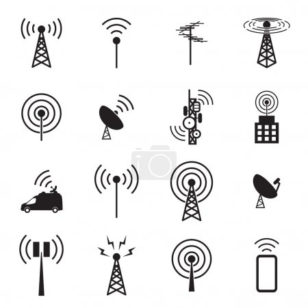 Antenna icon set