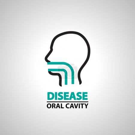 oral cavity icon and symbol