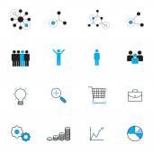 business management icons set