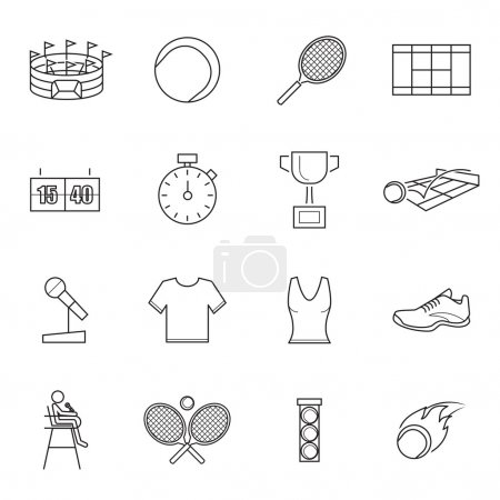 Tennis Icons,vector
