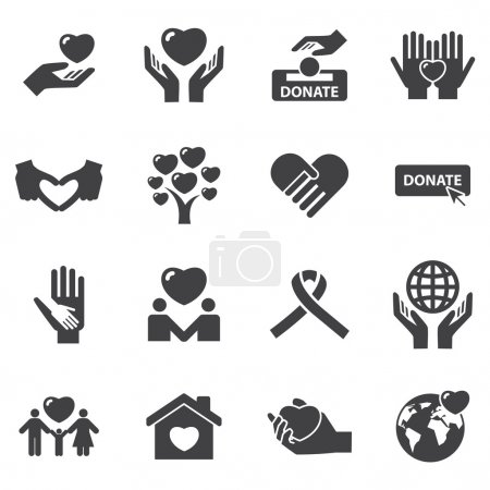 Charity and love icons