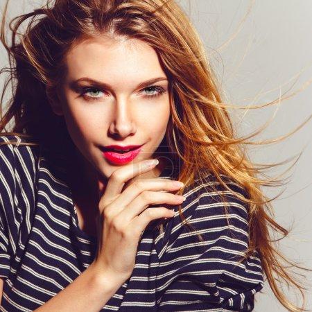 Photo for Portrait of beautiful teenage girl - Royalty Free Image