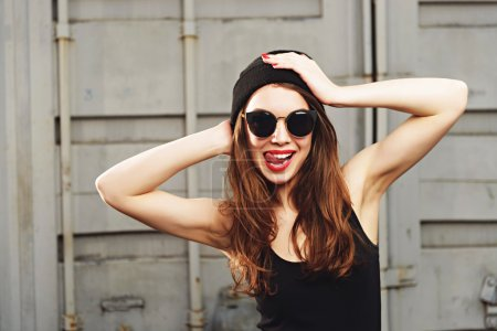 Photo for Portrait of beautiful stylish trendy girl - Royalty Free Image