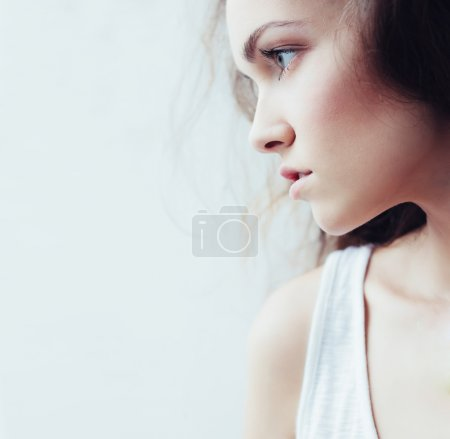 Photo for Stylish woman portrait posing in fashionable clothes - Royalty Free Image