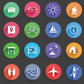 Set of Universal Standard Flat Isolated travel Icons Travel Icons Vector illustration