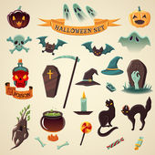 Set of halloween icons Halloween big set Vector Icons