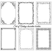 Set of vintage ornamental borders