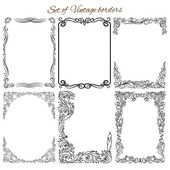 Collection of decorative ornamental borders frames