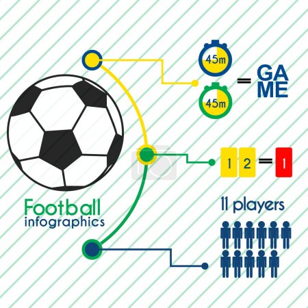 Football infographics elements set