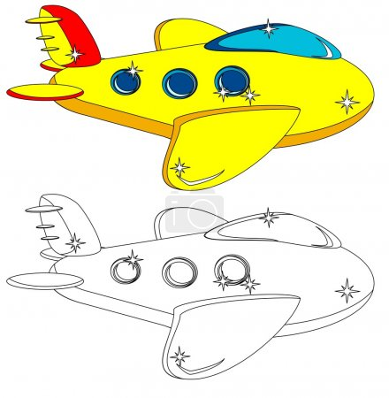 The Aircraft Is Not Painted And Colored, Vector