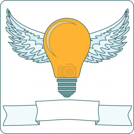 Bulb lamp with wings