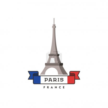 Eiffel tower in Paris. Symbol of France. Vector illustration.