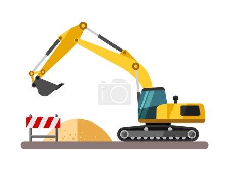 Construction equipment and machinery - excavator.