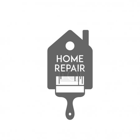 Illustration for House repair. Painting services. Elements for cards, illustration, poster and web design. Vector. - Royalty Free Image