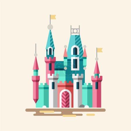 Magical castle. Fabulous palace.