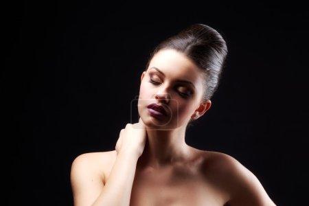 Glamour portrait of beautiful woman model